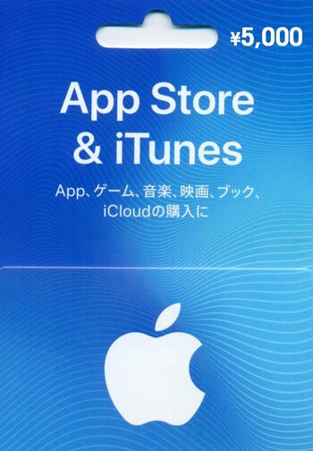 Apple iTunes Gift Card 5000 JPY iTunes Key JAPAN
