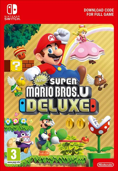 New Super Mario Bros. U Deluxe (Nintendo Switch) eShop Clave EUROPA