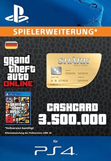 Grand Theft Auto Online: Whale Shark Cash Card (PS4) PSN Key GERMANY