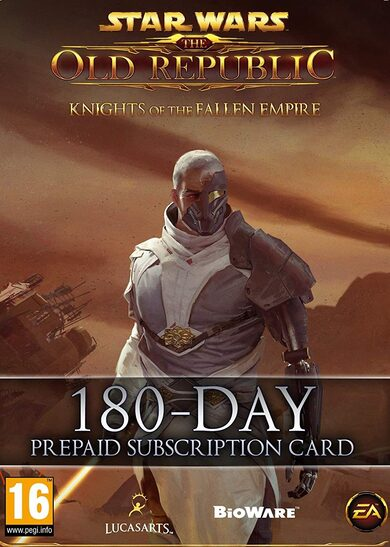 Star Wars: The Old Republic - 180 Day Pre-paid Time Card Key GLOBAL