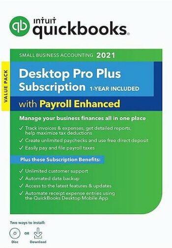 QuickBooks Desktop Pro Plus 2021 3 Device Key UNITED STATES