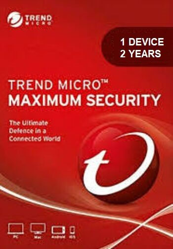 Trend Micro Maximum Security 1 Device 2 Years Key GLOBAL
