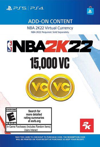 NBA 2K22: 15000 VC (PS4/PS5) PSN Key UNITED STATES
