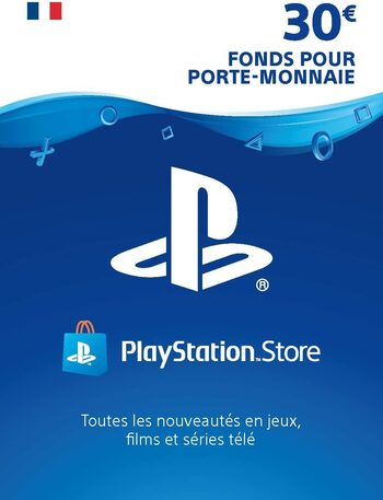 Carte PlayStation Network 30 EUR (FR) Carte PSN FRANCE
