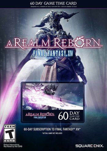 Final Fantasy XIV: A Realm Reborn 60 Day Game Time Card Other Key UNITED STATES
