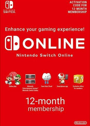 Nintendo Switch Online - Individual Membership 12 Months Subscription (Nintendo Switch) Nintendo Key SOUTH AMERICA