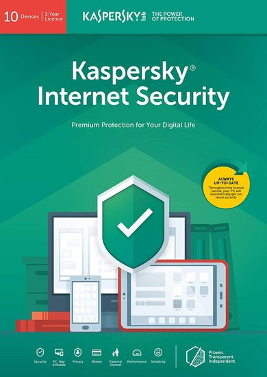 Kaspersky Internet Security 2019 - 10 Device - 1 Year Kaspersky Key EUROPE
