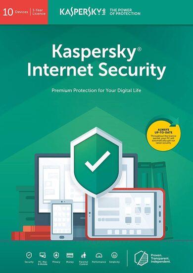 Kaspersky Internet Security 2019 - 10 Device - 1 Year Kaspersky Key EUROPE