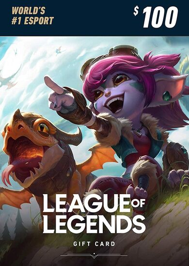 League of Legends $100 Gift Card Key – 15000 Riot Points- NA Server Only