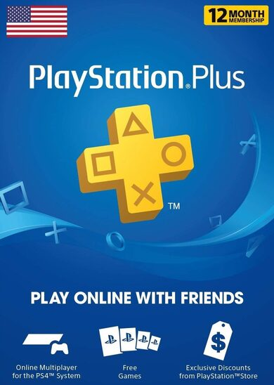 PlayStation Plus Card 365 Days (USA) PSN USA Código Más Barato