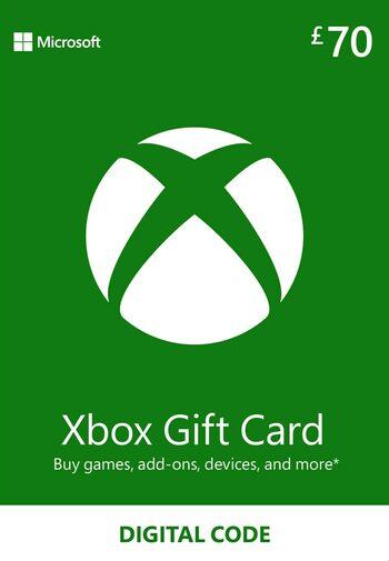Xbox Live Gift Card 70 GBP Xbox Live Key UNITED KINGDOM