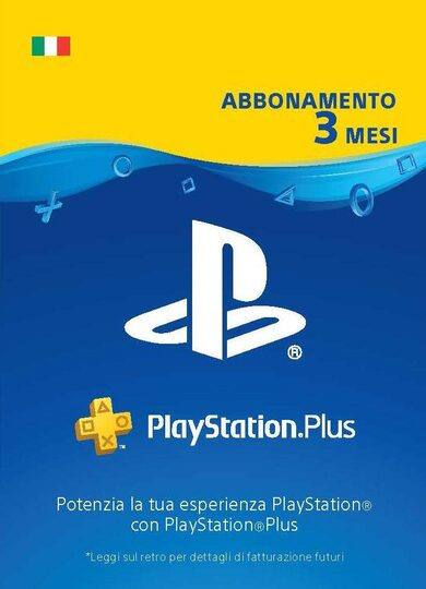 PlayStation Plus Card 90 Days (IT) PSN Key ITALY