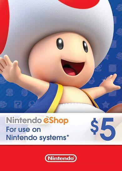 Tarjeta Nintendo Eshop 5 dólares Estados Unidos USA