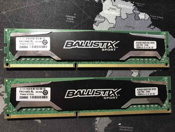 Crucial Ballistix Sport 4 GB (1 x 4 GB) DDR3-1600 Black / Silver PC RAM