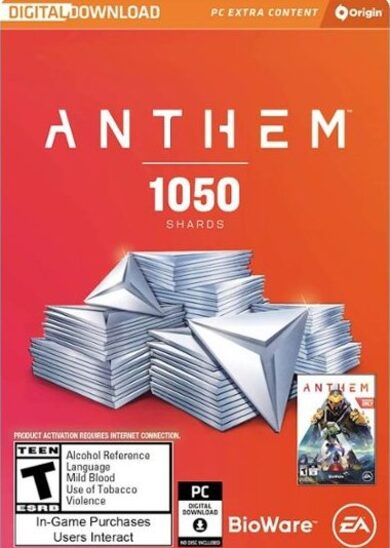 Anthem: 1050 Shards Origin Key GLOBAL