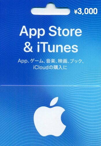 Apple iTunes Gift Card 3000 JPY iTunes Key JAPAN