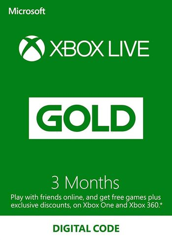 Xbox Live Gold 3 Monate Xbox Live key GLOBAL