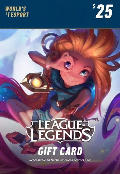 League of Legends $25 Gift Card Key – 3500 Riot Points - NA Server Only