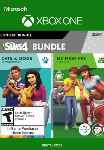 The Sims 4 Cats and Dogs Plus My First Pet Stuff Bundle (DLC) XBOX LIVE Key UNITED STATES
