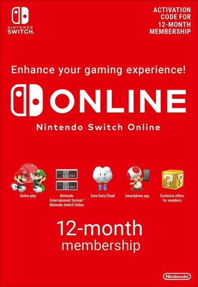 Nintendo Switch Online Membership - 12 Months eShop Key EUROPE