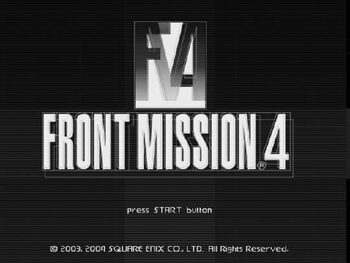 Front Mission 4 PlayStation 2