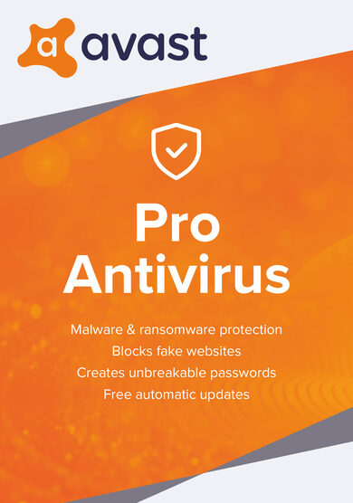 Avast Pro Antivirus 1 Device 1 Year Avast Key GLOBAL