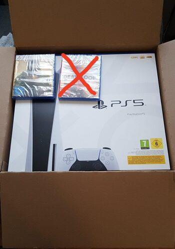 PlayStation 5, Black & White, 825GB + dovana