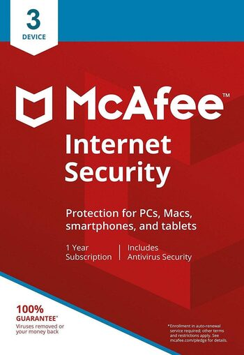 McAfee Internet Security (2021) 3 Device 1 Year Key EUROPE