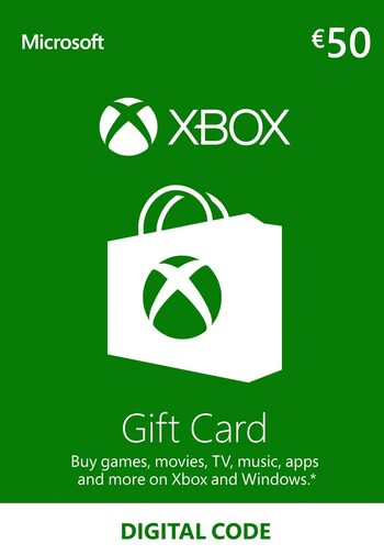 Xbox Live Gift Card 50 EUR Xbox Live Klucz EUROPE