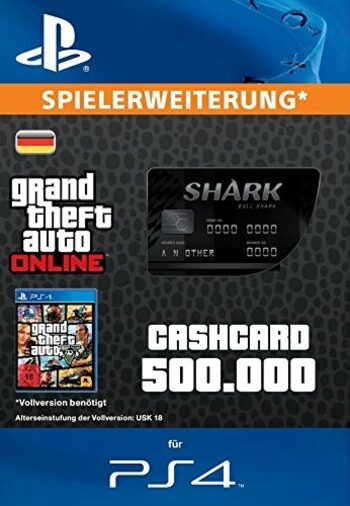 Grand Theft Auto Online: Bull Shark Cash Card (PS4) PSN Key GERMANY