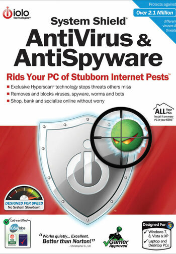 iolo System Shield AntiVirus and AntiSpyware 5 Devices 1 Year iolo Key GLOBAL