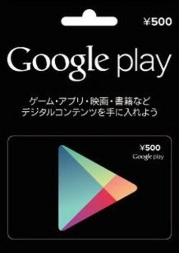 Google Play Gift Card 500 JPY Key JAPAN