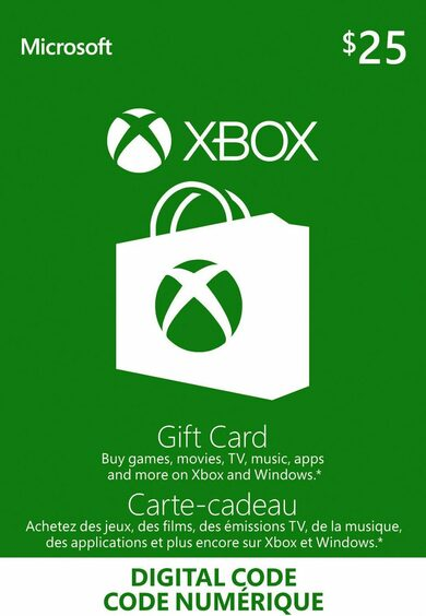 Xbox Live Gift Card 25 CAD Xbox Live Key CANADA