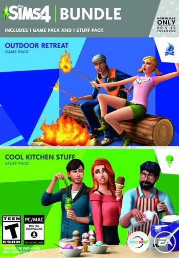 The Sims 4 Bundle Pack: Outdoor Retreat and Cool Kitchen Stuff Pack  (DLC) Origin Key GLOBAL