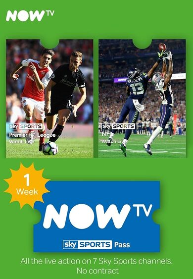 1 Week NOW TV Sky Sports UK Pass Key UNITED KINGDOM