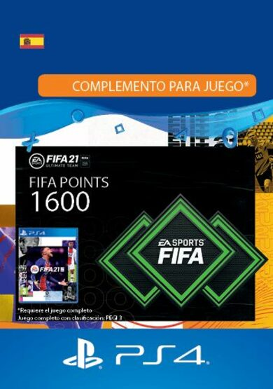 FIFA 21 - 1600 FUT Points (PS4) PSN código de España