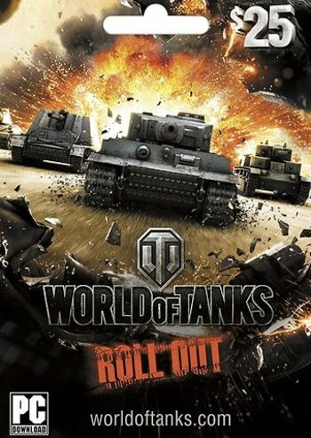 World of Tanks - Gift Card 25 USD Key UNITED STATES